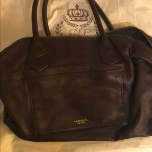 Brown leather Ralph Lauren bag